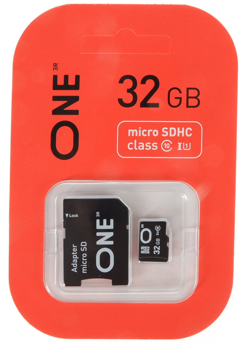 One microSDHC UHS-I Class 10 32GB карта памяти с адаптером карта памяти каркам microsdhc 32gb class 10
