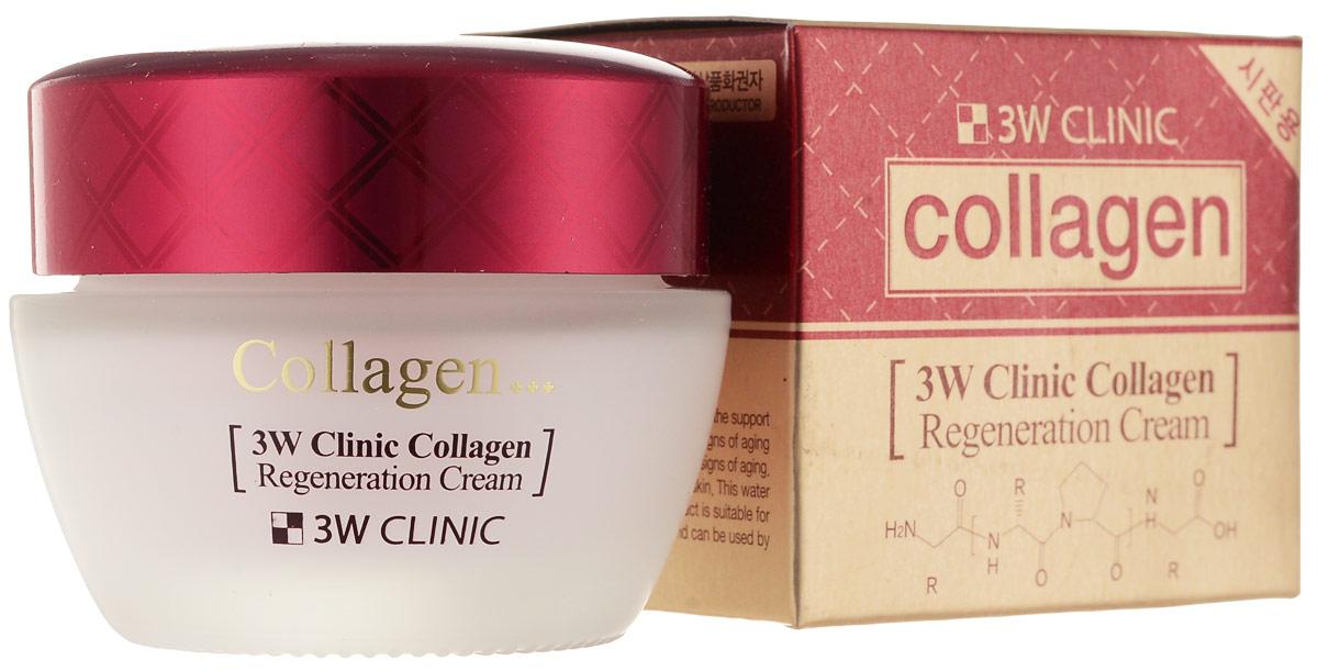 3W Clinic Крем для лица с коллагеном регенеририрующий Collagen Regeneration Cream, 60 мл крем juno medibeau stem cell clinic nourishing cream collagen объем 100 мл