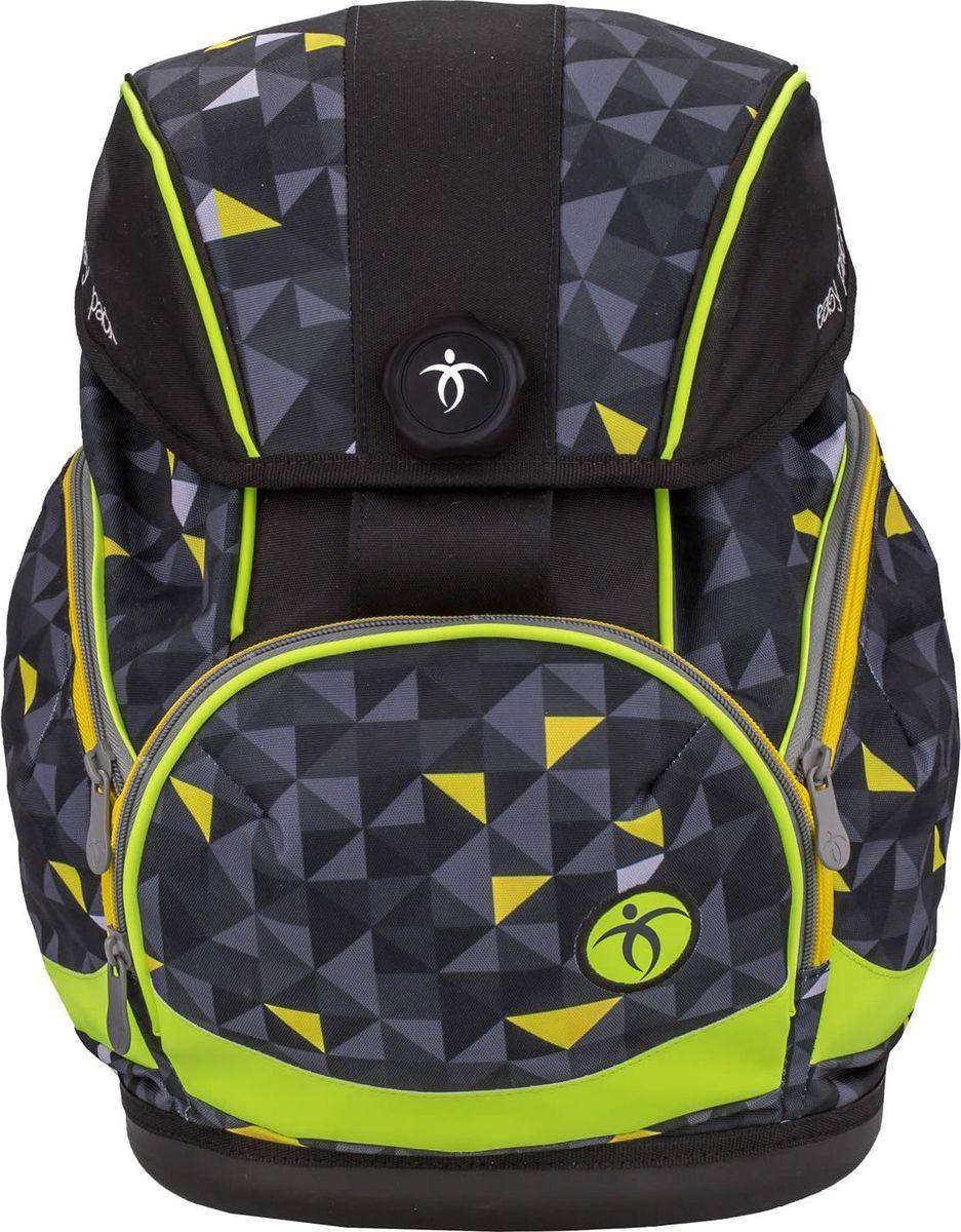 Belmil Ранец школьный Easy Pack Yellow Pack404-40/008Школьный ранец-рюкзак Belmil Easy Pack Yellow Pack с анатомической спинкой выполнен в современном эргономичном дизайне. Спинка имеет анатомически сформированную форму с заметной поддержкой поясничного отдела, что существенно снижает нагрузку на позвоночник. Ранец-рюкзак легко подогнать под рост ребенка от 110 до 140 см. Для надежного крепления есть съемный набедренный ремень, а также нагрудный фиксатор. Монолитное пластиковое дно защищает вещи школьника от пыли и влаги и придает ранцу-рюкзаку устойчивость. Крышка закрывается автоматически с помощью немецкого магнитного замка Fidlock. Рюкзак имеет основное отделение и два объемных боковых кармана на молнии. Вместительный наружный карман подходит для размещения пенала. Школьный ранец имеет яркий дизайн.