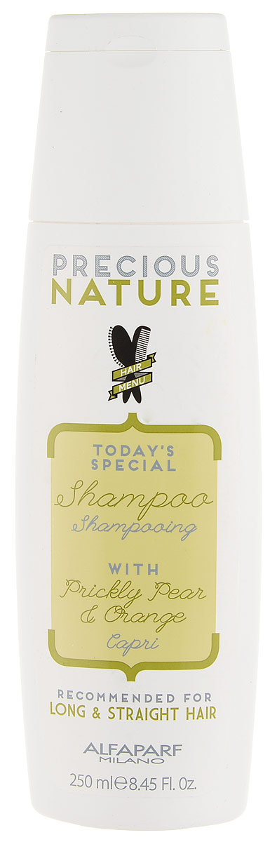 Alfaparf Precious Nature Shampoo for Long and Straight Hair Шампунь для длинных и прямых волос, 250 мл12511Разглаживающий шампунь с маслом опунции для максимального контроля гладкости и блеска. Благодаря своим разглаживающим свойствам, масло опунции* делает волосы мягкими и шелковистыми, а входящий в состав экстракт апельсина* придает волосам сияние. -100% натуральный ингредиент. НЕ СОДЕРЖИТ: сульфатов, парабенов, парафинов, минеральных масел, синтетических веществ, аллергенов-гипоаллергенные экстракты растений и ароматизаторыОбъем: 250 мл