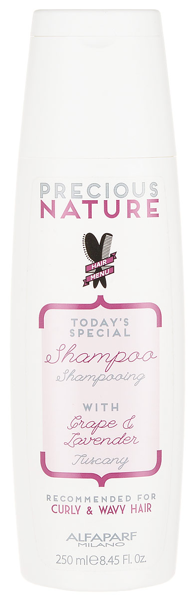 Alfaparf Precious Nature Shampoo for Curly and Wavy Hair Шампунь для кудрявых и вьющихся волос, 250 мл abebe abeshu diro and dida midekso automatic morphological synthesizer for afaan oromoo