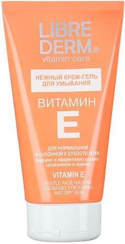 Librederm Витамин Е нежный крем-гель для умывания 150 мл ahava time to hydrate нежный крем для глаз 15 мл