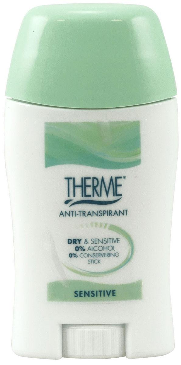 Therme Антиперспирант-стик, 50 г60001Обеспечивает надежную защиту от неприятного запаха, оставляя кожу сухой и свежей. Подходит для чувствительной кожи. Не содержит спирта, красителей, парабенов и консервантов.