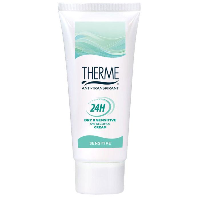 Therme Крем-антиперспирант, 60 мл super dry sensitive спрей антиперспирант для чувствительной кожи защита на 3 д натуротерапия