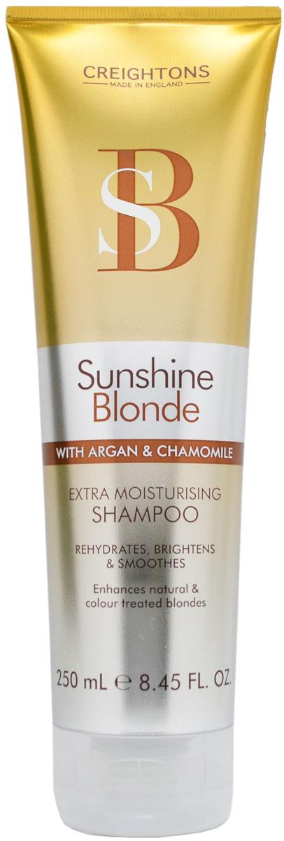 Creightons Увлажняющий шампунь для светлых волос Солнечное сияние, 250 мл5612868Лучший способ ухода за светлыми волосами. В состав шампуня входят Pro-Витамин В5, аргановое масло, экстракт ромашки и солнцезащитные компоненты, которые помогают продлить яркость и сияние выбранного вами оттенка. НЕ ОКРАШИВАЕТ ВОЛОСЫ.