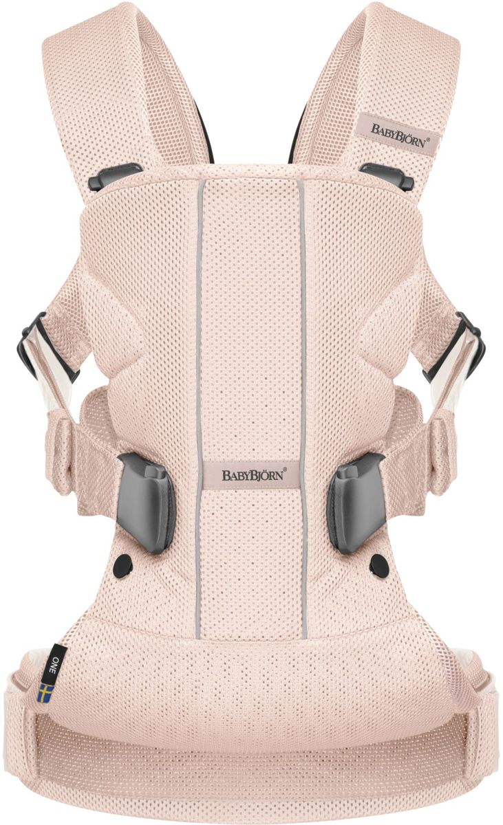 BabyBjorn Рюкзак для переноски ребенка One Mesh цвет розовый babybjorn рюкзак кенгуру one new soft cotton mix цвет серый деним