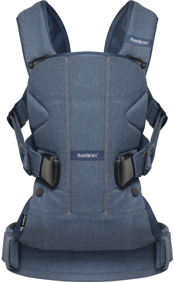 BabyBjorn Рюкзак для переноски ребенка One Soft Cotton Mix цвет деним - Рюкзаки, слинги, кенгуру