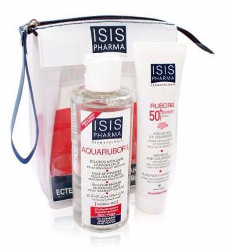 Isispharma Набор в косметичке для чувствительной кожи: Aquaruboril Мицеллярная вода 100 мл, Ruboril 50+ EXPERT крем 30 мл