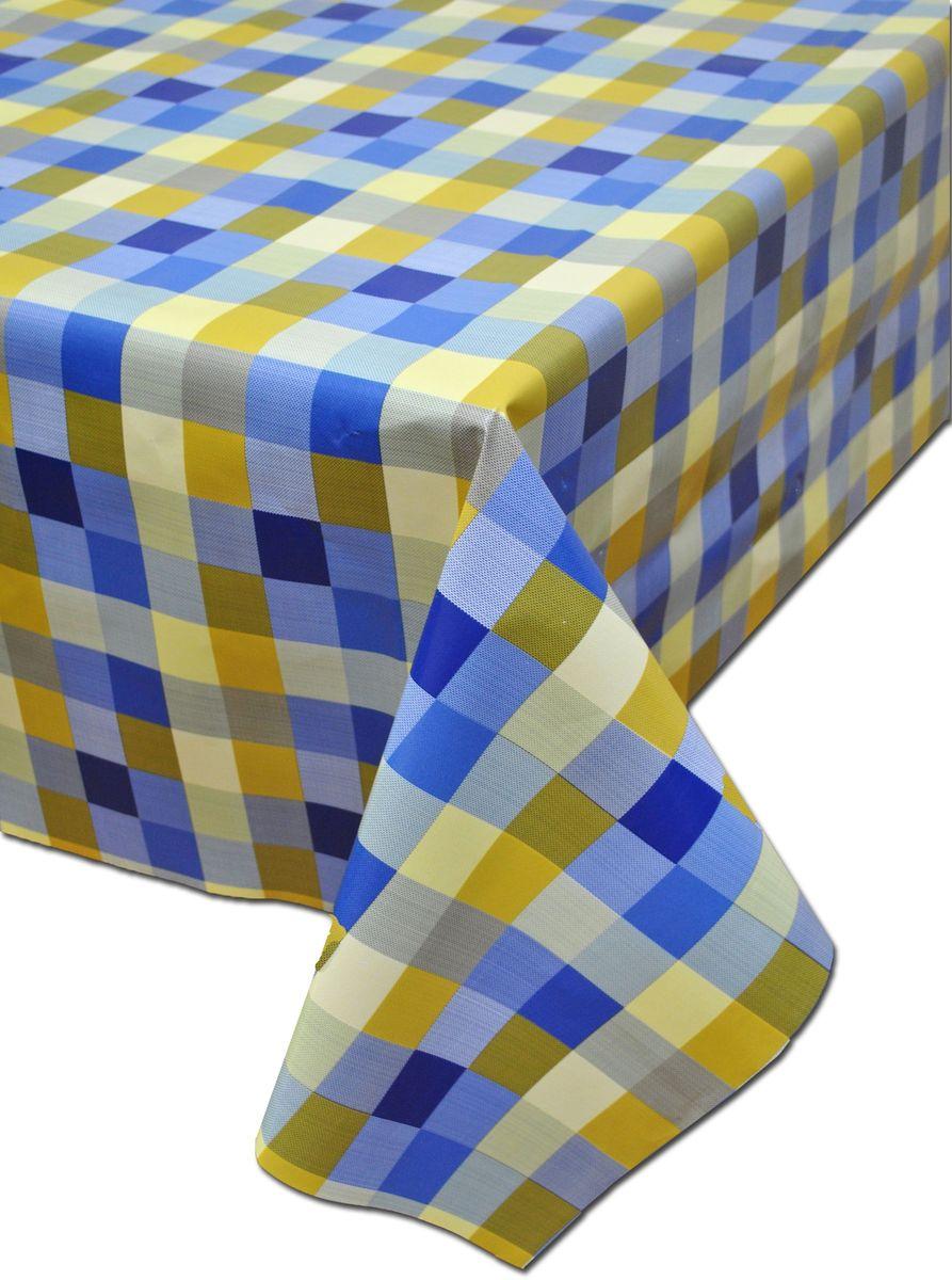 Столовая клеенка LCadesi Florista, цвет: синий, голубой, желтый, 100 х 140 см. FL100140-286-02FL100140-286-02Столовая клеенка LCadesi Florista с ярким дизайном украсит ваш стол и защитит его от царапин и пятен. Благодаря основе из нетканого материала не скользит по столу. Клеенка не имеет запаха и совершенно безопасна для человека.Размер: 100 х 140 см.