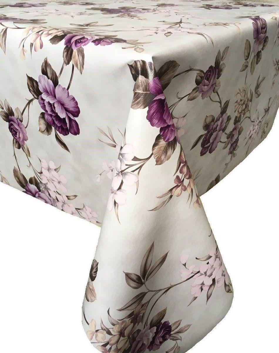 Столовая клеенка LCadesi Florista, прямоугольная, цвет: белый, сиреневый, бежевый, 100 х 140 см. FL100140-318-05FL100140-318-05Столовая клеенка Florista с красивым дизайном украсит ваш стол и защитит его от царапин и пятен. Благодаря основе из нетканого материала не скользит по столу. Клеенка не имеет запаха и совершенно безопасна для человека. Можно использовать клеенку для детского творчества.