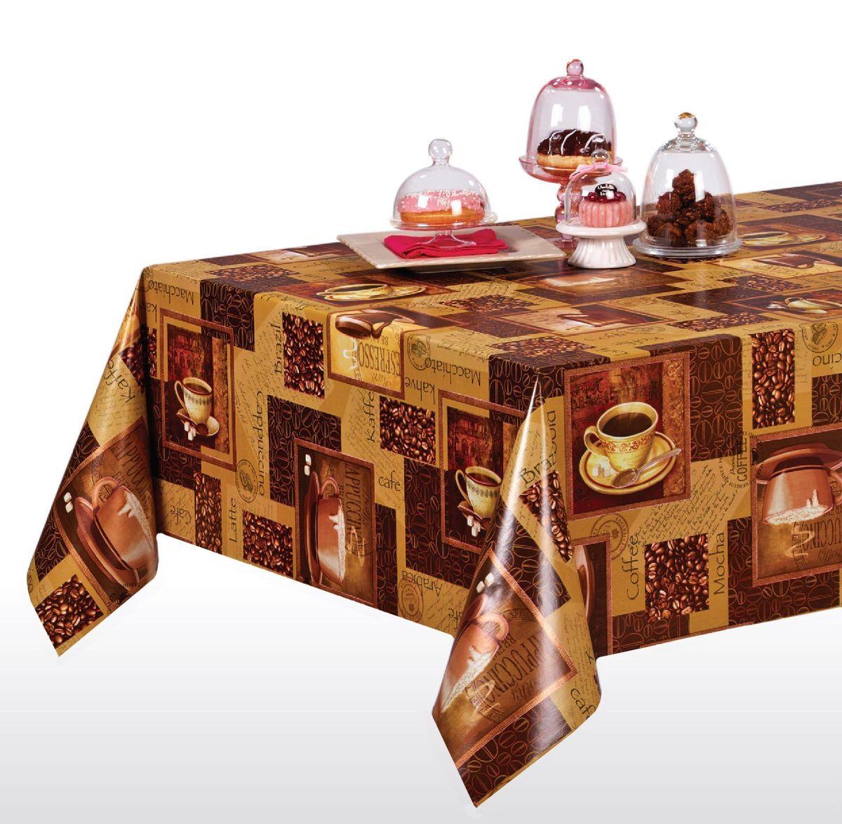 Клеенка столовая LCadesi Florista, прямоугольная, цвет: коричневый, 130 х 165 см. FL130165-004-00FL130165-004-00Столовая клеенка LCadesi Florista с ярким дизайном украсит ваш стол и защитит его от царапин и пятен. Благодаря основе из нетканого материала не скользит по столу. Клеенка не имеет запаха и совершенно безопасна для человека.