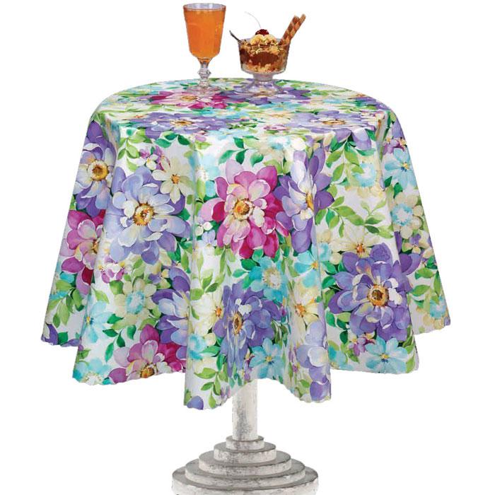 Столовая клеенка Florista с ярким дизайном украсит ваш стол и защитит его от царапин и пятен. Благодаря основе из нетканого материала не скользит по столу.  Можно использовать клеенку для детского творчества.