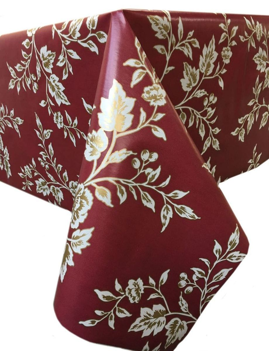 Клеенка столовая LCadesi Florista, прямоугольная, цвет: бордовый, 130 х 165 см. FL130165-333-02FL130165-333-02Столовая клеенка LCadesi Florista с классическим дизайном украсит ваш стол и защитит его от царапин и пятен. Благодаря основе из нетканого материала не скользит по столу. Клеенка не имеет запаха и совершенно безопасна для человека.