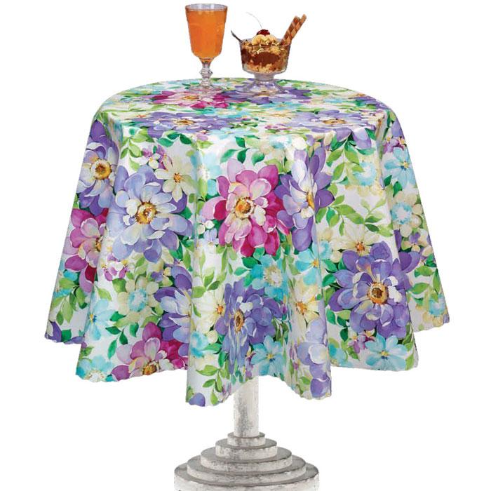 Столовая клеенка Florista с ярким дизайном украсит ваш стол и защитит его от царапин и пятен. Благодаря основе из нетканого материала, клеенка не скользит по столу.  Клеенка не имеет запаха и совершенно безопасна для человека. Можно использовать клеенку для детского творчества.