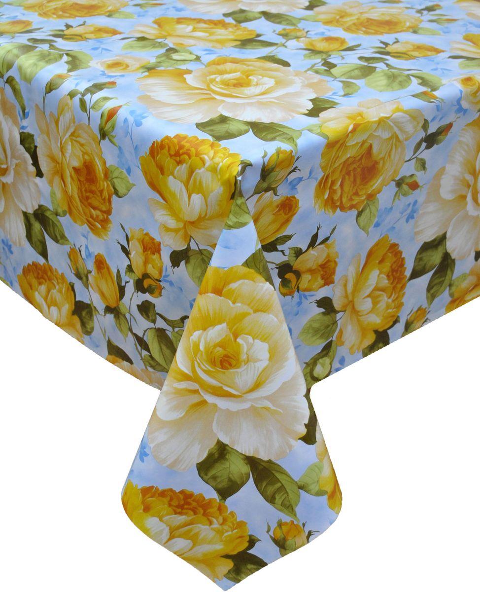 Клеенка столовая LCadesi Florista, прямоугольная, цвет: голубой, 140 х 200 см. FL140200-223-01FL140200-223-01Столовая клеенка LCadesi Florista с классическим дизайном украсит ваш стол и защитит его от царапин и пятен. Благодаря основе из нетканого материала не скользит по столу. Клеенка не имеет запаха и совершенно безопасна для человека.