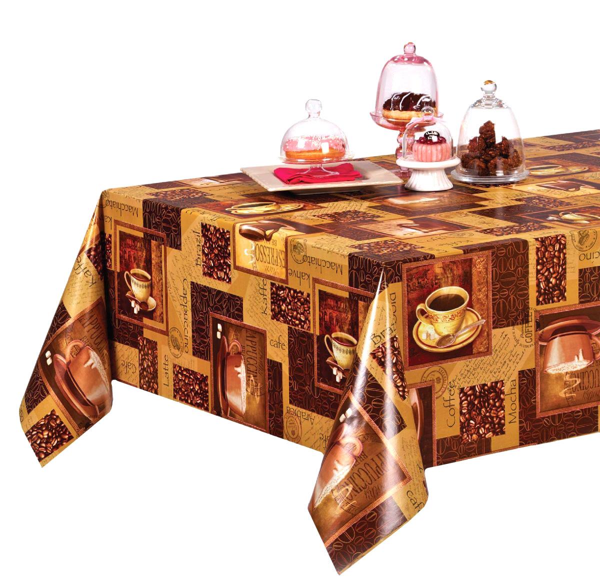 Столовая клеенка Florista с ярким дизайном украсит ваш стол и защитит его от царапин и пятен. Благодаря основе из нетканого материала не скользит по столу. Клеенка не имеет запаха и совершенно безопасна для человека.