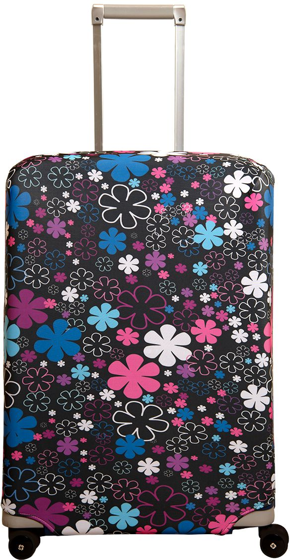 Чехол для чемодана Routemark Floxy, размер M/L (65-74 см)Fl-M/LЧехол Routemark подходит для чемоданов средних размеров высотой от 65 до 74 см (24-28 inch) (мерить от пола). Изготовлен из спандекса (240 г/2м) и имеет упрочнённые швы.Чехлы Routemark отличаются плотным материалом и наличием 2 специальных потайных молний для боковых ручек с двух сторон. Внизу чехла - молния трактор, дополнительная резинка с фастексом для лучшей усадки. В комплекте предусмотрен отдельный аксессуар - мешочек, который можно использовать для разных других полезных мелочей (например, для хранения салфеток, денег, солнцезащитных очков, телефона, карты от номера и т.д.). У чехла стойкая сублимационная печать.Чехол можно стирать в стиральной машине.
