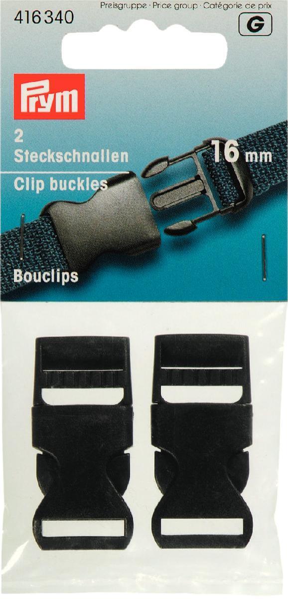 Набор пряжек Prym, для комбинезона, цвет: черный, 16 мм, 2 шт