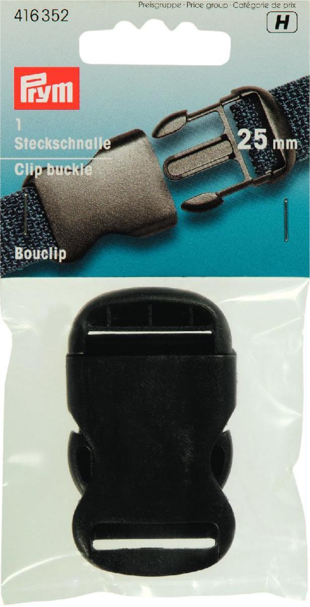 Пряжка Prym, для сумок, рюкзаков, цвет: черный, 25 мм