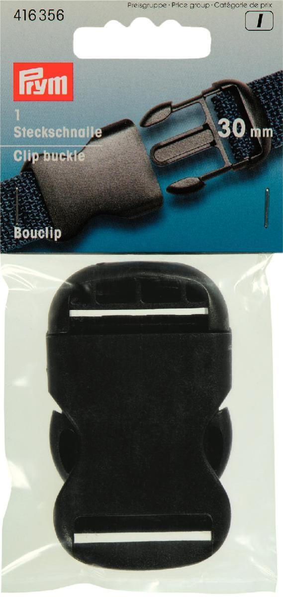 Пряжка-застежка Prym, цвет: черный, 30 мм