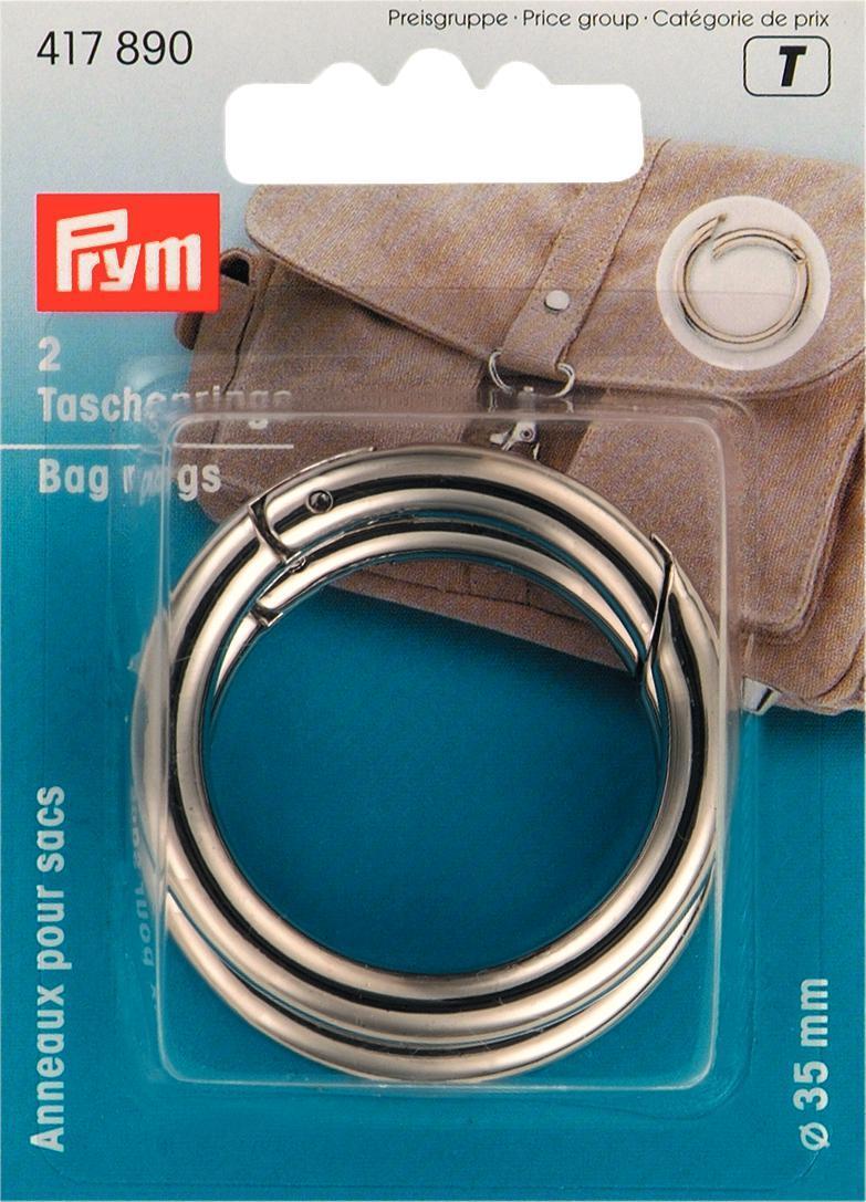 Zakazat.ru Набор колец для сумок Prym, цвет: серебристый, 35 мм, 2 шт