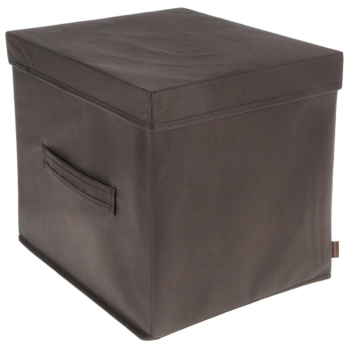Коробка для вещей и игрушек Все на местах Minimalistic, с крышкой, цвет: коричневый, 30 x 30 x 30 см1015036Коробка с крышкой Minimalistic выполнена из высококачественного нетканого материала, который обеспечивает естественную вентиляцию и предназначен для хранения вещей или игрушек.Он защитит вещи от повреждений, пыли, влаги и загрязнений во время хранения и транспортировки. Размер коробки: 30 х 30 х 30 см.
