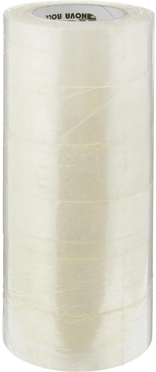 Скотч упаковочный  Nova Roll , цвет: прозрачный, ширина 4,8 см, длина 150 м, 6 шт -  Клейкая лента