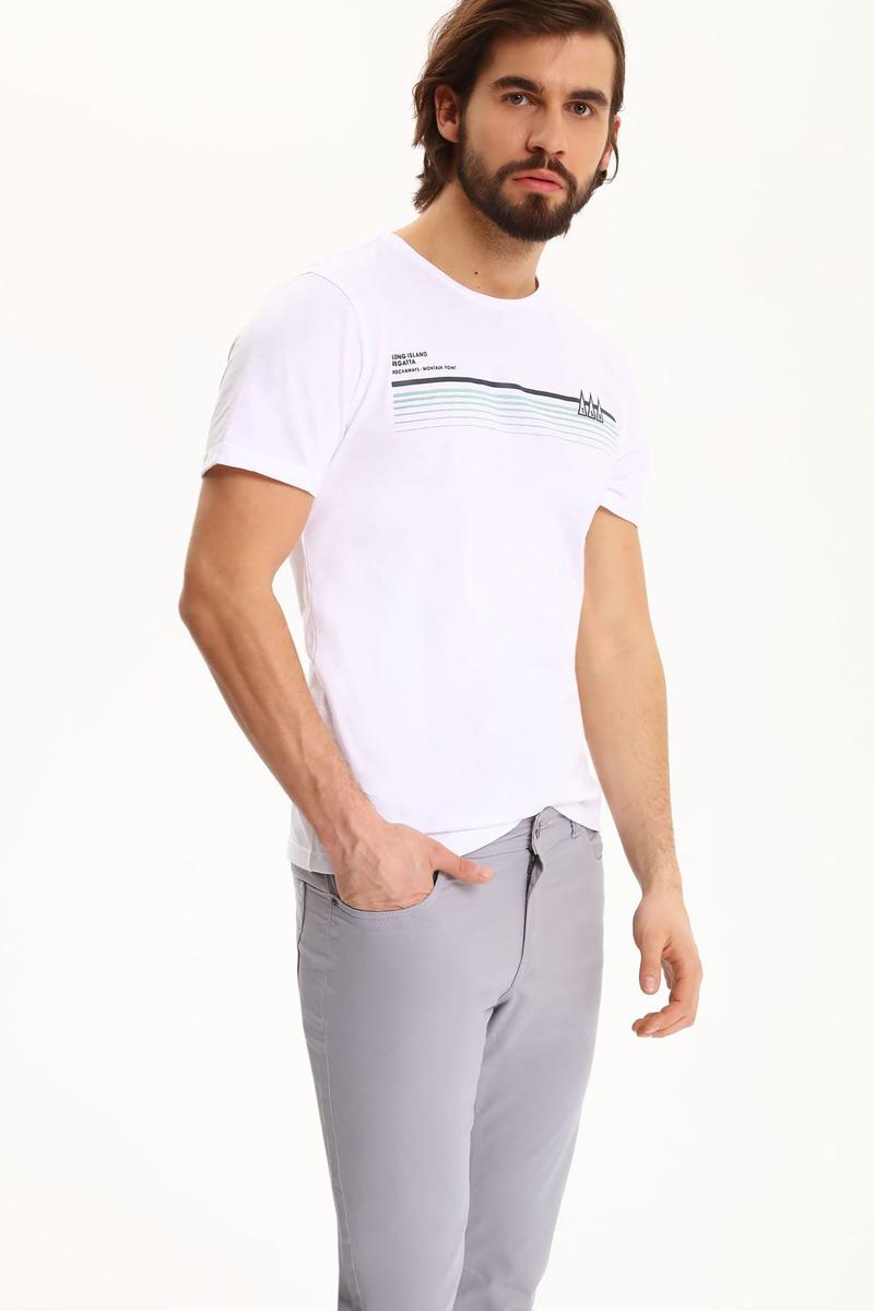 Футболка мужская Top Secret, цвет: белый. SPO3062BI. Размер XL (50) футболка мужская top secret цвет белый серый горчичный spo2881bi размер l 50