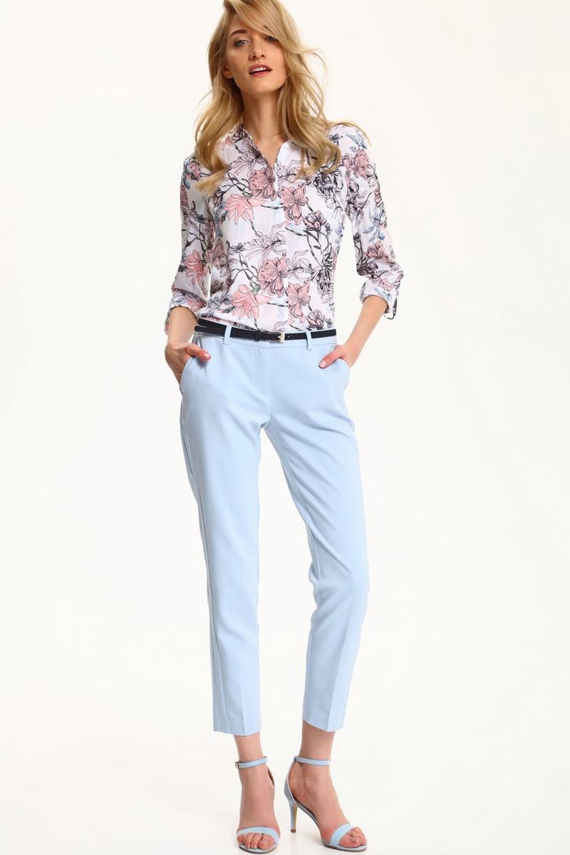 Брюки женские Top Secret, цвет: голубой. SSP2471NI. Размер 40 (48)SSP2471NIСтильные женские брюки Top Secret - брюки высочайшего качества на каждый день, которые прекрасно сидят. Модель изготовлена из высококачественного комбинированного материала. Эти модные и в тоже время комфортные брюки послужат отличным дополнением к вашему гардеробу. В них вы всегда будете чувствовать себя уютно и комфортно.