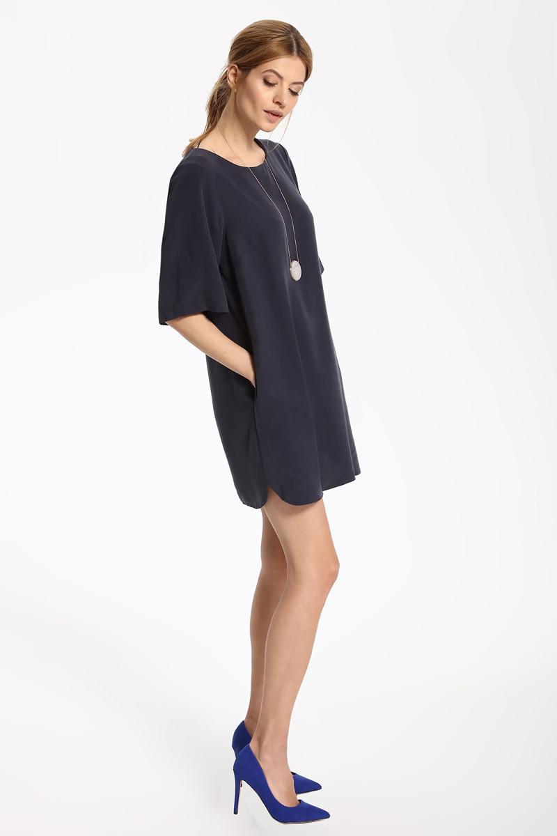 Платье Top Secret, цвет: синий. SSU1813GR. Размер 38 (46)SSU1813GRПлатье Top Secret выполнено из лиоцелла. Модель с круглым вырезом горловины и рукавами 3/4.