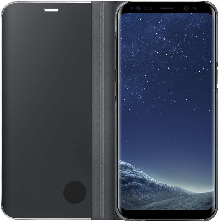 Samsung EF-ZG950C Clear View Standing чехол для Galaxy S8, BlackEF-ZG950CBEGRUТонкий полупрозрачный чехол Samsung Clear View Standing подчеркивает стиль и изящество смартфона Galaxy S8. Аксессуар обеспечивает быстрый доступ к функциям – следите за информацией на экране, не открывая чехла. Сквозь прозрачную верхнюю крышку видны время, пропущенные вызовы, индикатор заряда. Флип-кейс отзывчиво реагирует на прикосновения – отвечайте на звонки одним легким движением. Чехол устойчив к появлению отпечатков пальцев – ваш смартфон всегда в аккуратном состоянии. Особое покрытие чехла защищает смартфон от повреждений, продлевая срок его службы.