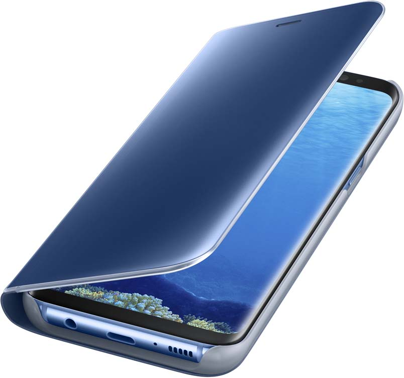 Samsung EF-ZG950C Clear View Standing чехол для Galaxy S8, BlueEF-ZG950CLEGRUТонкий полупрозрачный чехол Samsung Clear View Standing подчеркивает стиль и изящество смартфона Galaxy S8. Аксессуар обеспечивает быстрый доступ к функциям – следите за информацией на экране, не открывая чехла. Сквозь прозрачную верхнюю крышку видны время, пропущенные вызовы, индикатор заряда. Флип-кейс отзывчиво реагирует на прикосновения – отвечайте на звонки одним легким движением. Чехол устойчив к появлению отпечатков пальцев – ваш смартфон всегда в аккуратном состоянии. Особое покрытие чехла защищает смартфон от повреждений, продлевая срок его службы.