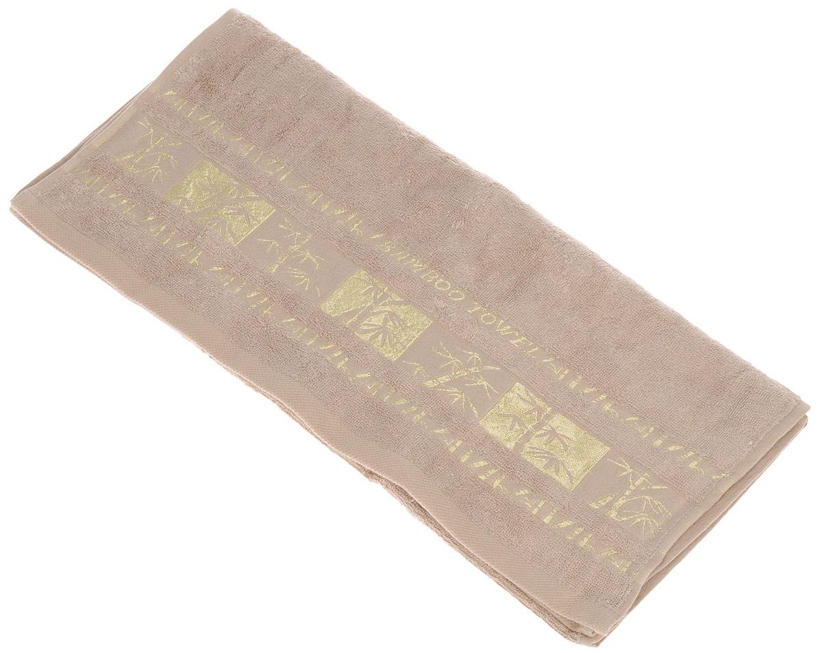 Полотенце Brielle Bamboo Gold, цвет: мокко, 50 х 90 см1212Полотенце Brielle Bamboo Gold выполнено из бамбука с содержанием хлопка. Изделие очень мягкое, оно отлично впитывает влагу, быстро сохнет, сохраняет яркость цвета и не теряет формы даже после многократных стирок. Одна из боковых сторон оформлена оригинальным рисунком и надписью. Полотенце Brielle Bamboo Gold очень практично и неприхотливо в уходе. Такое полотенце послужит приятным подарком.