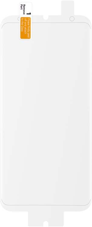 Samsung защитная пленка для дисплея Galaxy S8+, 2 штET-FG955CTEGRUЗащитная пленка Samsung для Galaxy S8 сохраняет экран смартфона гладким и предотвращает появление на нем царапин и потертостей. Структура пленки позволяет ей плотно удерживаться без помощи клеевых составов и выравнивать поверхность при небольших механических воздействиях. Пленка практически незаметна на экране смартфона и сохраняет все характеристики цветопередачи и чувствительности сенсора.