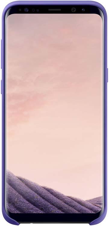 Samsung EF-PG955 Silicone Cover чехол для Galaxy S8+, VioletEF-PG955TVEGRUБлагодаря плавным линиям Galaxy S8+, смартфон уже удобно лежит в руке, а чехол Silicone Cover с мягким, приятным на ощупь софт тач покрытием, только усиливает это ощущение комфорта.Силиконовый чехол с внутренней мягкой подкладкой из микроволокна надёжно защищает корпус смартфона от повреждений.