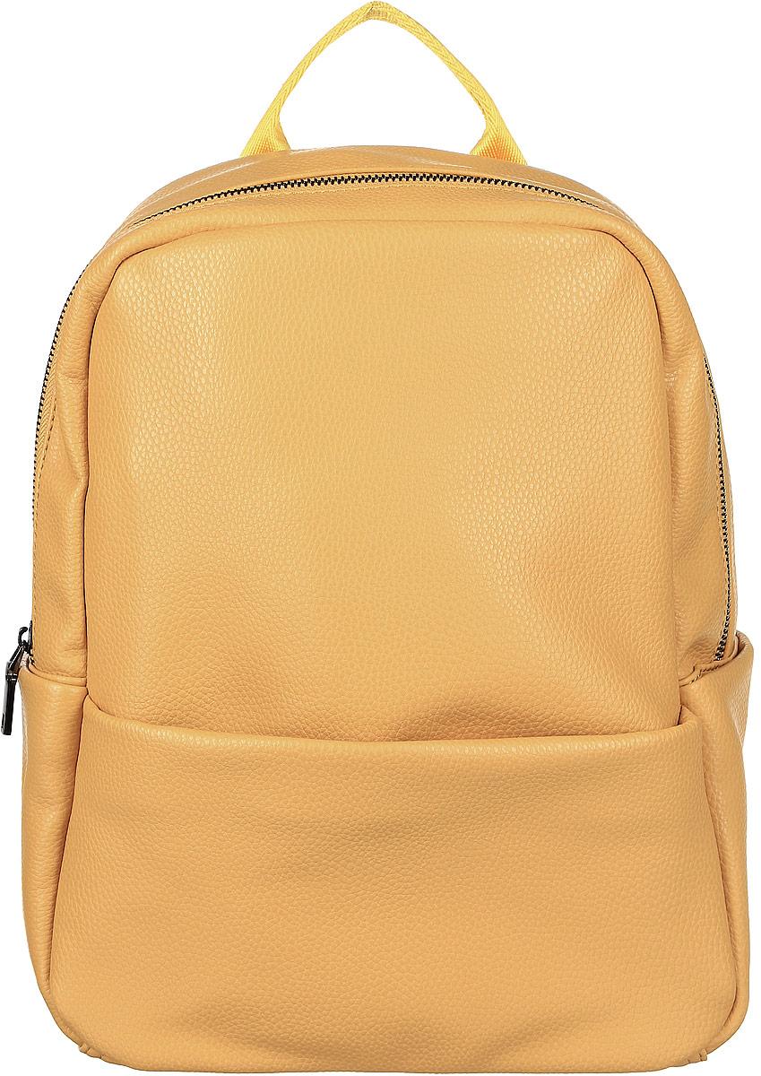 Рюкзак женский OrsOro, цвет: горчичный. D-265/1