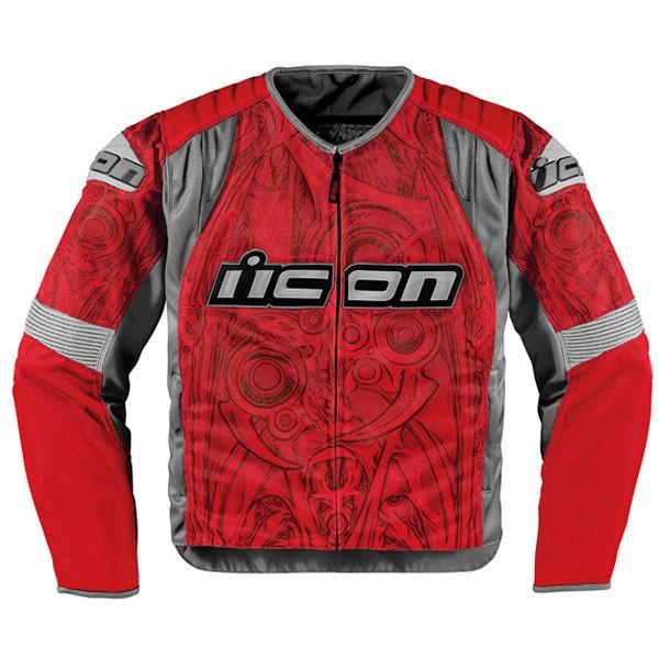 Мотокуртка Icon Icon Overlord Sportbike SB1, цвет: красный. Размер L мотокуртка icon overlord цвет белый 2810 размер xl