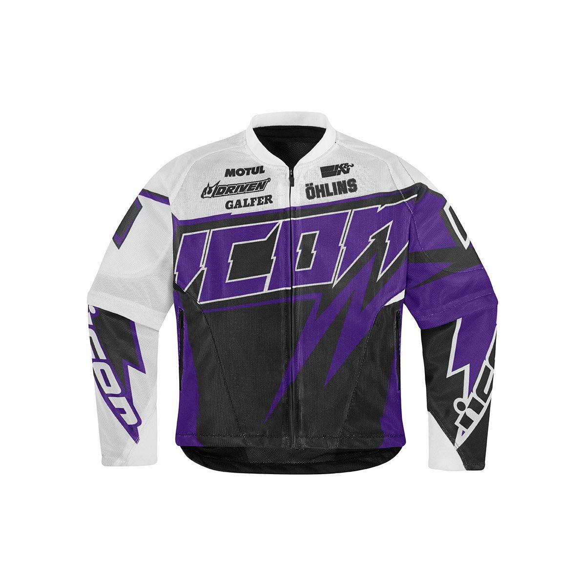 "Мотокуртка женская Icon ""Icon Spaztyk Street Jersey"", цвет: фиолетовый. Размер XS"