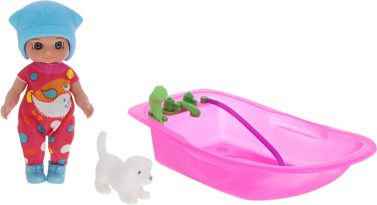 Veld-Co Пупс Изабелла с ванночкой цвет шапочки голубой veld co пупс с ванночкой изабелла
