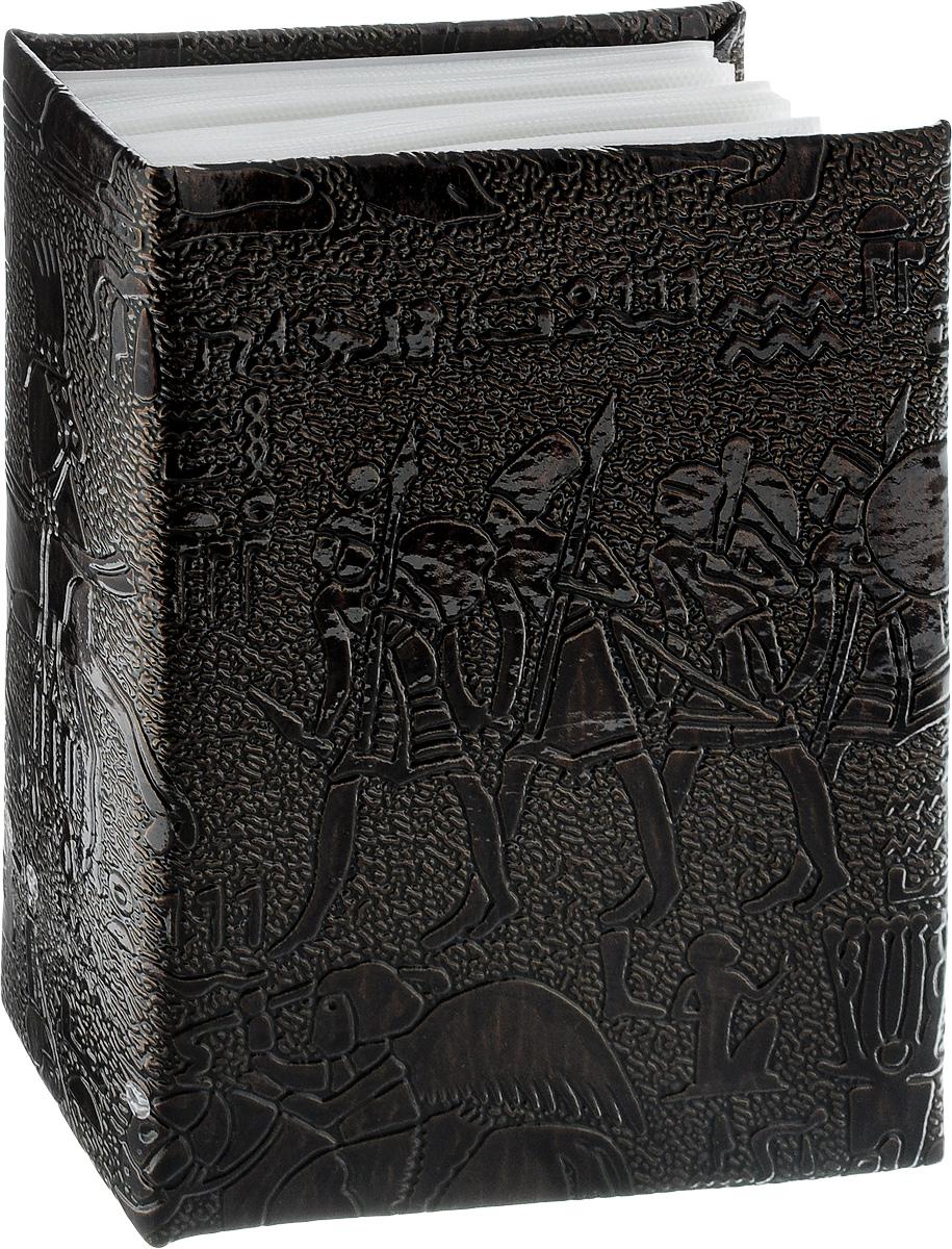 Фотоальбом Pioneer Egypt Leather, 100 фотографий, цвет: темно-коричневый, 10 x 15 см46802 PU-46100Фотоальбом Pioneer Egypt Leather поможет красиво оформить ваши самые интересныефотографии. Обложка, выполненная из делюкс материала (искусственной кожи), оформленапринтом с первобытными людьми. Внутри содержится блок из 50 белых листов с фиксаторами- окошками из полипропилена. Альбом рассчитан на 100 фотографий формата 10 х 15 см (по 1фотографии на странице). Переплет - высокочастотная сварка. Нам всегда так приятновспоминать о самых счастливых моментах жизни, запечатленных на фотографиях. Поэтомуфотоальбом является универсальным подарком к любому празднику. Количество листов: 50.