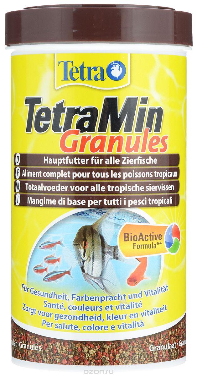 Корм_TetraMin_~Granules~_-_это_биологически_сбалансированный_корм_в_виде_гранул_для_здоровой_рыбы_и_чистой_воды._Тщательно_подобранная_смесь_высокопитательных_ингредиентов_с_витаминами,_минералами_и_микроэлементами_для_ежедневного_полноценного_питания_рыб._Особенности_TetraMin_~Granules~:небольшие_гранулы_корма,_содержащиеся_в_практичной_упаковке,_быстро_размягчаются_в_воде,гранулы_медленно_опускаются_на_дно_аквариума,_что_гарантирует_полноценное_и_разнообразное_питание,содержит_такие_жизненно_важные_вещества_как_протеины,_витамины,_лецитин,_а_также_добавку,_обеспечивающую_рыбкам_насыщенность_окраски._За_счет_этих_элементов_достигается_здоровый_рост,_богатство_красок,_и_жизненная_сила,с_запатентованной_формулой_BioActive_-_для_продолжительной_и_здоровой_жизни_ваших_питомцев,оптимальная_степень_усвоения_всеми_видами_рыб.Рекомендации_по_кормлению:_кормите_несколько_раз_в_день_маленькими_порциями.Характеристики:_Состав:_рыба_и_побочные_рыбные_продукты,_экстракты_растительного_белка,_зерновые_культуры,_растительные_продукты,_овощи,_дрожжи,_моллюски_и_раки,_масла_и_жиры,_водоросли,_минеральные_вещества.Пищевая_ценность:_сырой_белок_-_46%25,_сырые_масла_и_жиры_-_7%25,_сырая_клетчатка_-_2%25,_влага_-_8%25.Добавки:_витамины,_провитамины,_витамин_А_30035_МЕ/кг,_витамин_Д3_1860_МЕ/кг._Комбинации_элементов:_Е5_Марганец_68_мг/кг,_Е6_Цинк_40_мг/кг,_Е1_Железо_26_мг/кг._Красители,_консерванты,_антиоксиданты.Вес:_250_мл_(100_г).__Уважаемые_клиенты!Обращаем_ваше_внимание_на_возможные_изменения_в_дизайне_упаковки._Качественные_характеристики_товара_остаются_неизменными._Поставка_осуществляется_в_зависимости_от_наличия_на_складе.