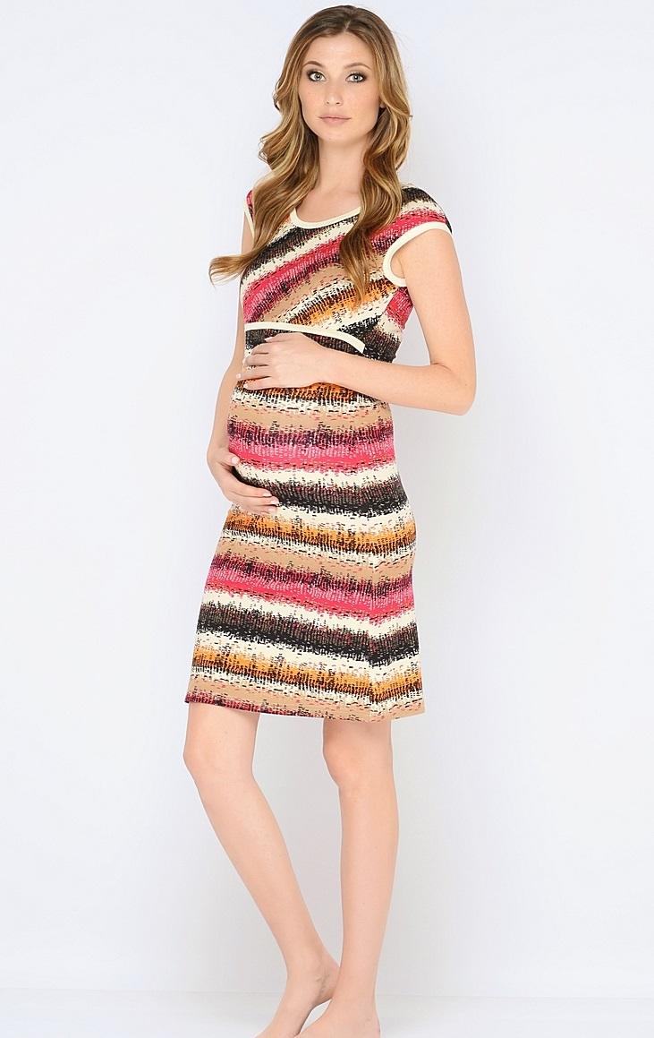 Сорочка ночная для беременных и кормящих 40 недель, цвет: розовый, молочный. 180120. Размер 48180120Красивая ночная сорочка для кормления от бренда 40 недель выполнена из приятного трикотажного полотна. Мягкая ткань, женственный, силуэтный покрой, уникальный секрет кормления делают сорочку удобной, а цветовая гамма изделия позволяет носить сорочку как домашнее платье для кормления.