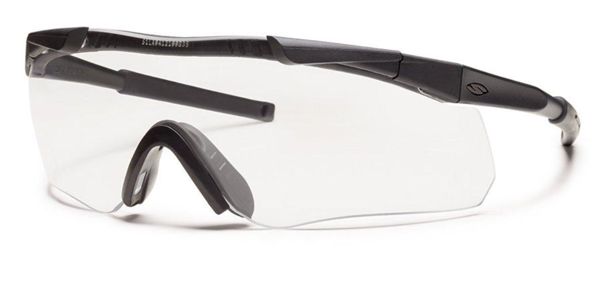 Защитные баллистические очки Smith Optics Aegis ARC, цвет: черныйAEGABK12-2RЗащитные баллистические очки Smith Optics Aegis ARC обладают рядом особенностей, делающих их использованием максимально комфортным. Дужки очков изготовлены из тонкого, гибкого металла, позволяющие использовать очки вместе с наушниками и шлемом. Очки гарантируют 100% защиту от ультрафиолета. Помимо этого, на очки нанесено специальное дисперсионное покрытие, защищающее их от царапин и запотевания.