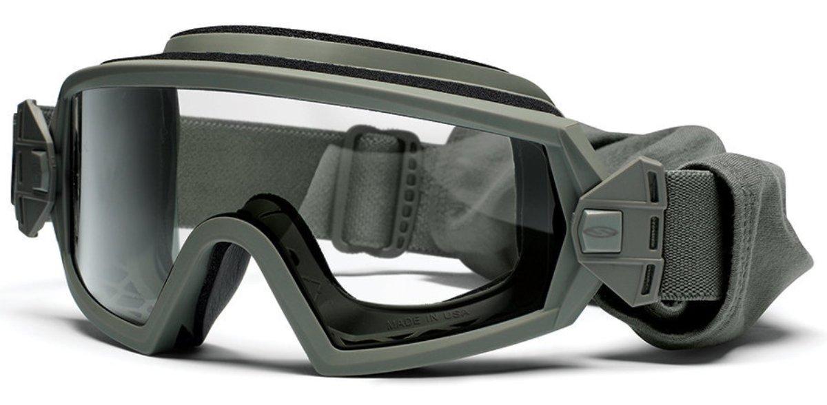 Защитные баллистические очки Smith Optics Outside The Wire, цвет: зеленыйOTW01FG12-2RЗащитные баллистические очки Smith Optics Outside The Wire фиксируются на голове при помощи эластичного, регулируемого по длине ремешка.При необходимости, ремешок мгновенно отстегивается от маски. Плотное прилегание очков к лицу исключает запотевание благодаря наличиюсистемы вентиляции. Помимо этого, на очки нанесено специальное дисперсионное покрытие, защищающее их от царапин и отпотевания.Очки гарантируют 100% защиту от ультрафиолета.