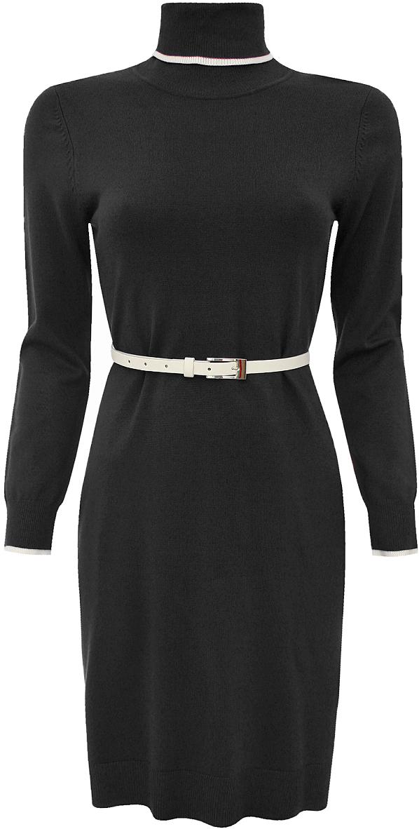 Платье oodji Collection, цвет: черный. 73912186/31361/2900N. Размер 40 (46) платье oodji collection цвет черный белый 24001104 1 35477 1079s размер l 48