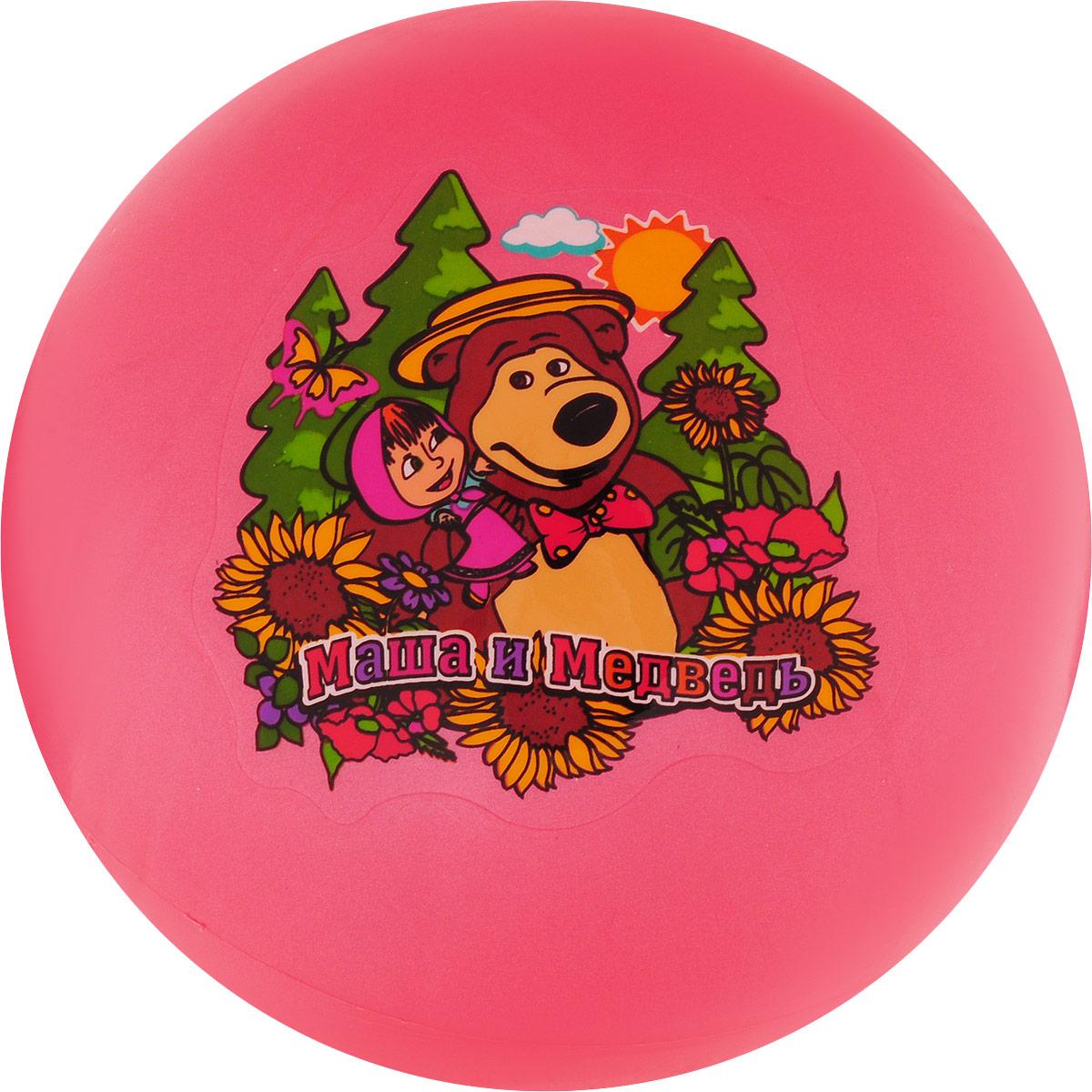 Играем вместе Мяч Маша и Медведь цвет красный 23 см