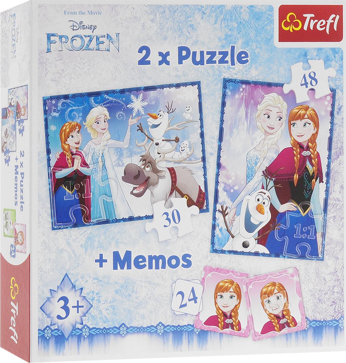 Trefl Пазл для малышей Сестры 2 в 1 + 24 карточки мемори стоимость