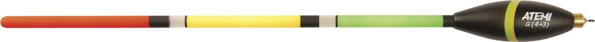 Поплавок отгруженный Atemi, 4+3 г. 408-74043408-74043Поплавок отгруженный Atemi предназначен для ловли с дальним забросом, для ночной ловли со светлячком и для ловли на живца. Выполнен из окрашенной бальзы.Вес огрузки: 3 г, 4 г.