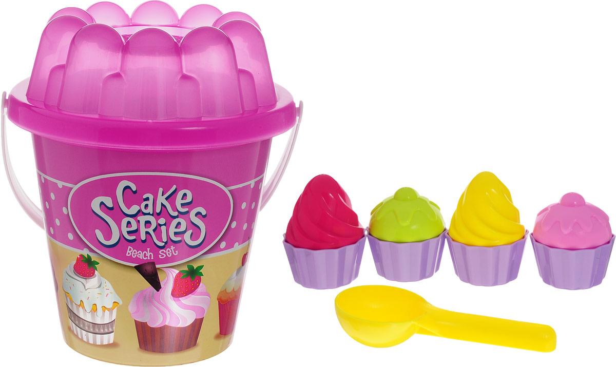 Fresh Trend Набор для песочницы Пирожное цвет розовый