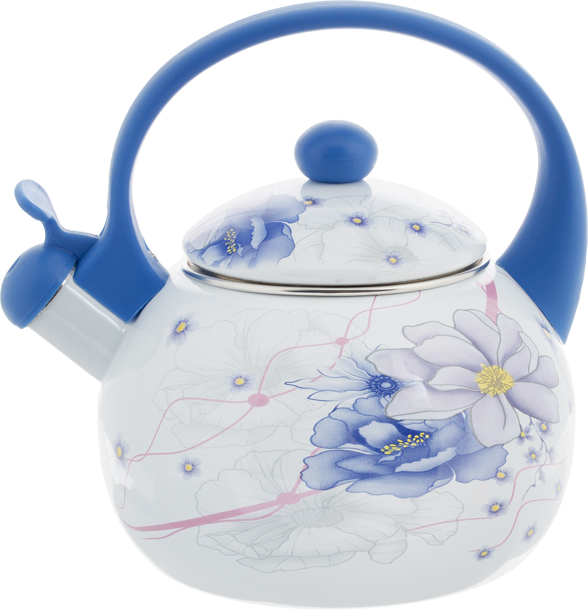 Чайник эмалированный  Wellberg , со свистком, 2,2 л. 3403 WB - Посуда для приготовления